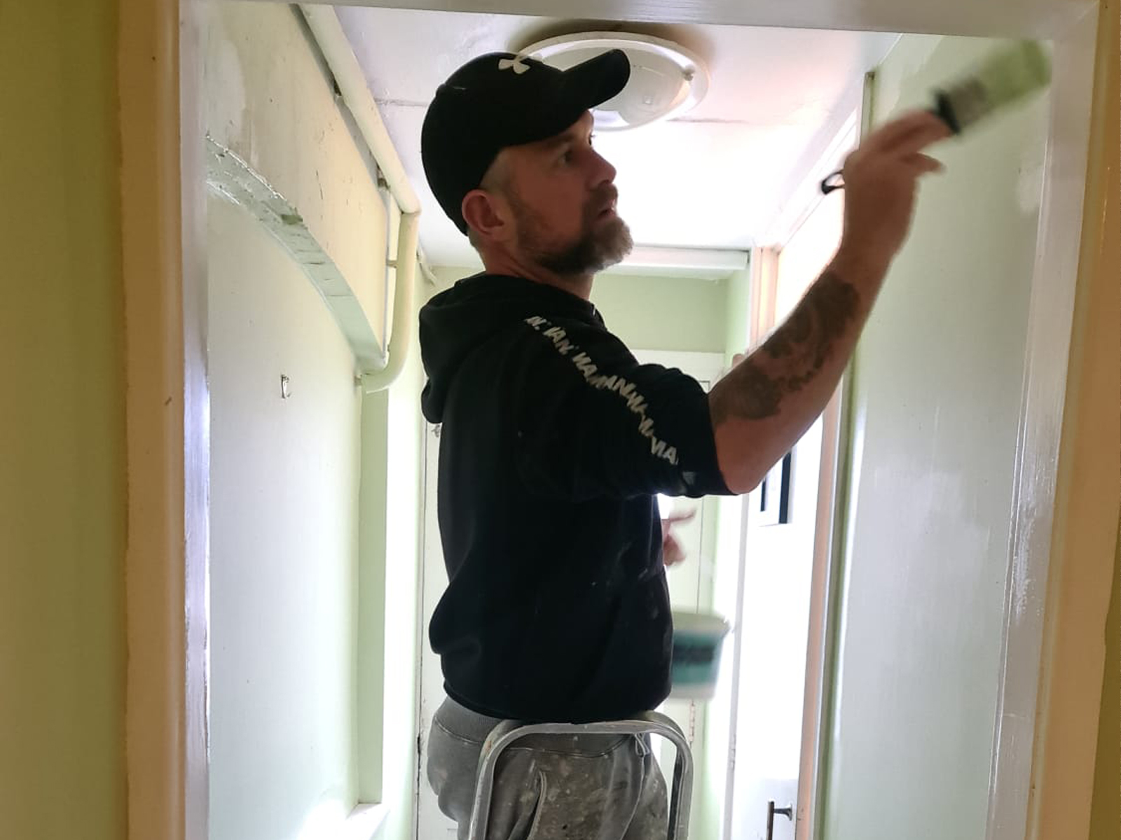 richard-painting-the-loos-at-the-crown-inn